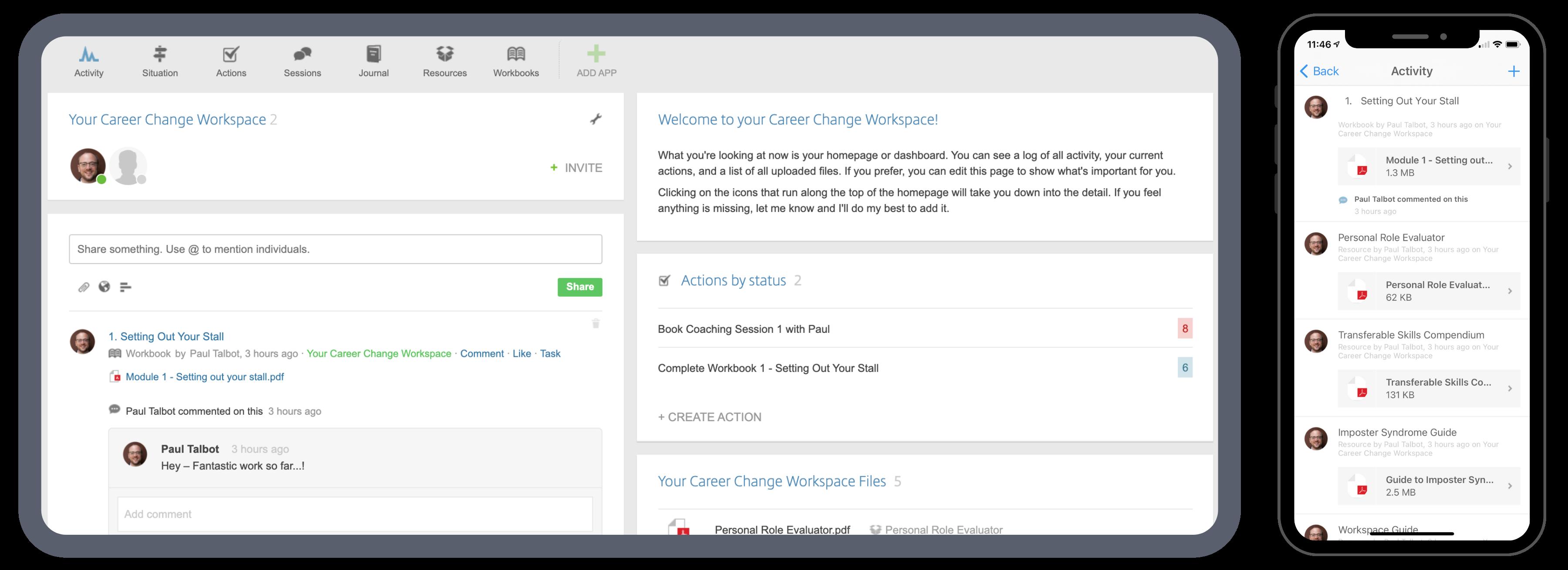 Career Change Workspace