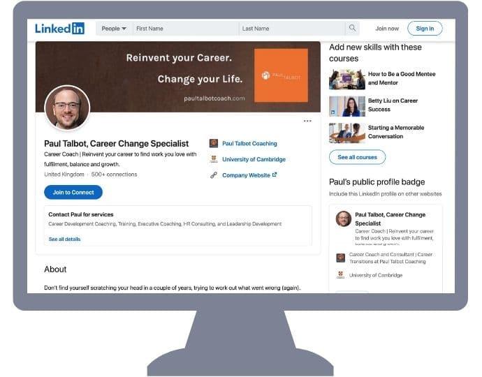 LinkedIn Profile Thumbnail